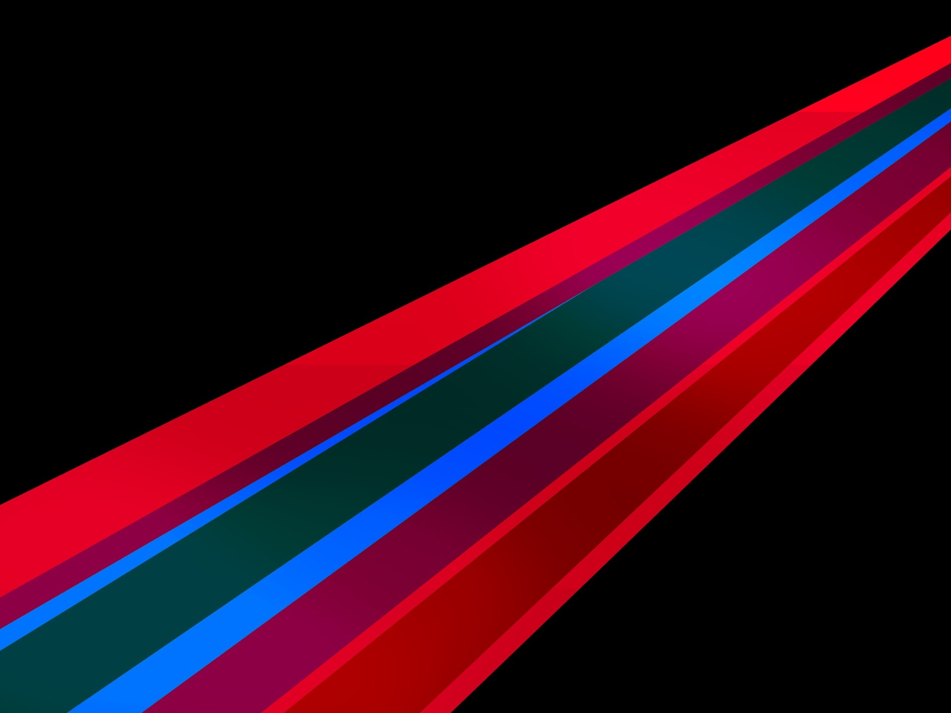 click to free download the wallpaper--3D Abstract Lines, Colorful Lines in the Middle of Black Background, is Looking Good 1920X1440 free wallpaper download