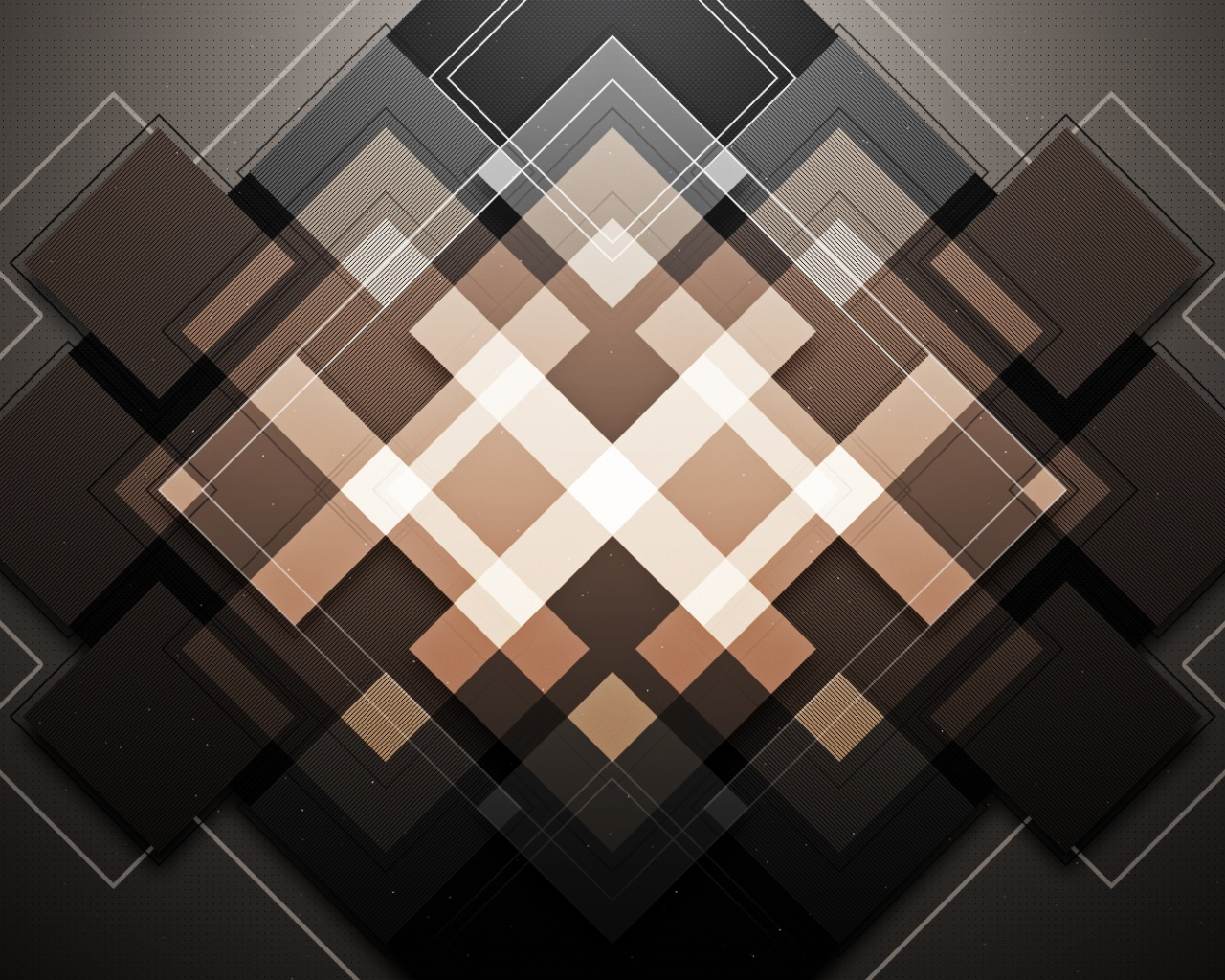 click to free download the wallpaper--3D Abstract Squares, Shapless and in Mess, Yet There is Certain Order Among Them 1280X1024 free wallpaper download