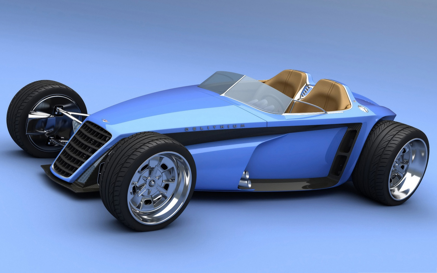 3d Cars Wallpaper Blue Car With Four Big Wheels Can It