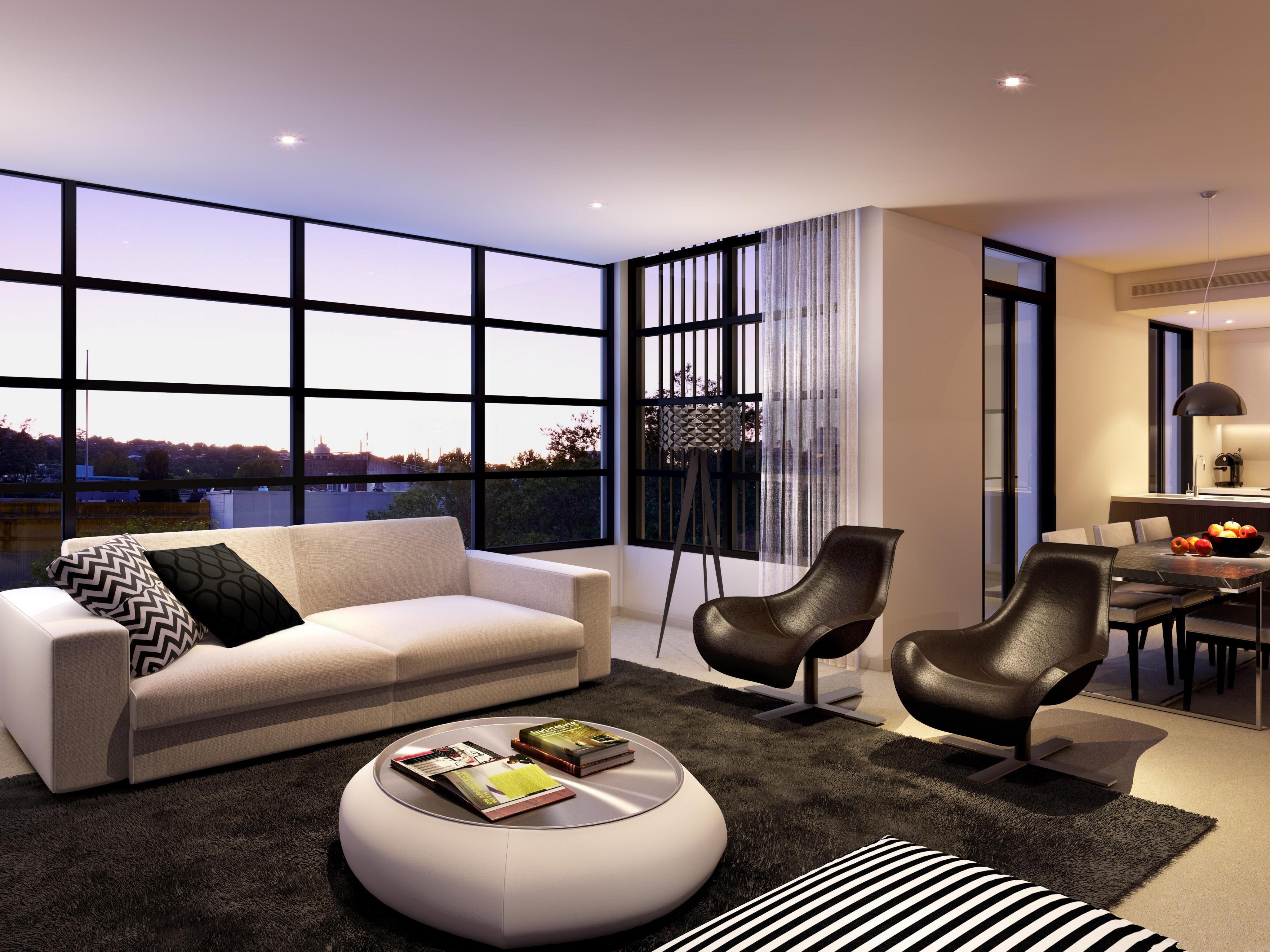 Wallpaper for small living room