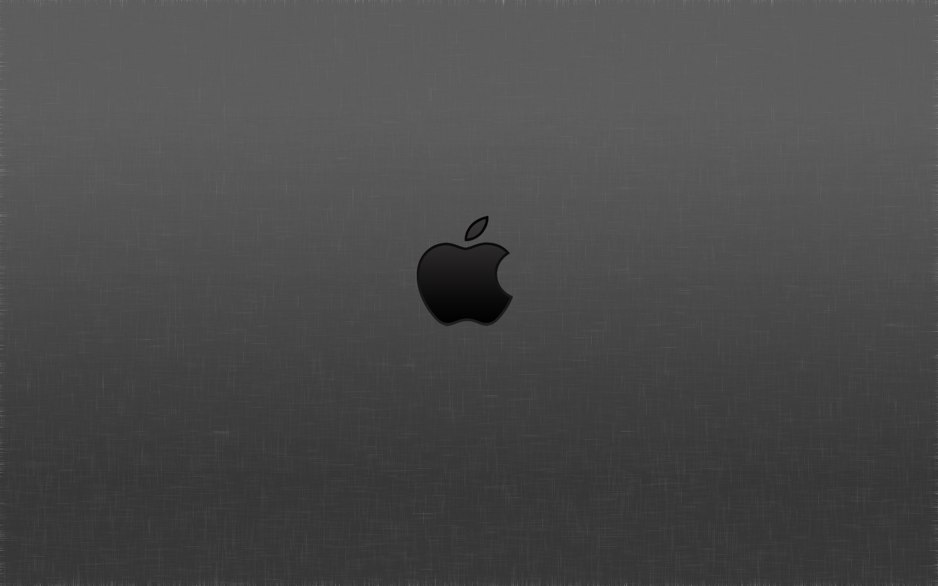 a black apple logo combined with gray background crossed