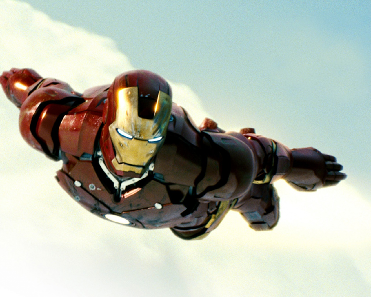 click to free download the wallpaper--Amazing TV Shows Pic, Iron Man Flying, He is Injured, Yet Never Stop Moving Forward 1280X1024 free wallpaper download