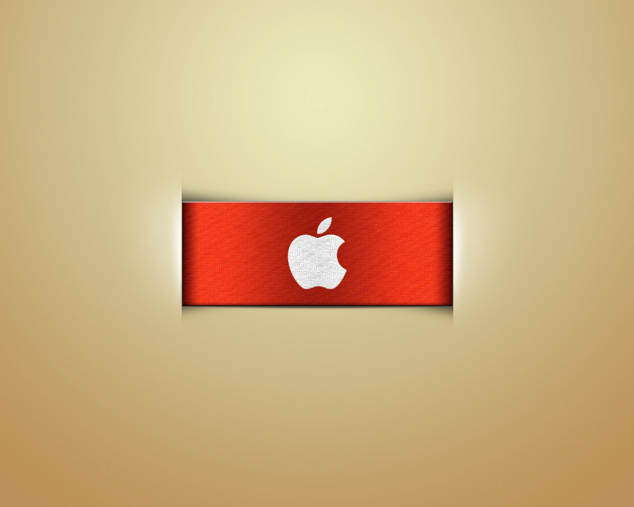 Apple-Logo-Images-Apple-Logo-on-Red-Ribbon-Light-Yellow-Background-is
