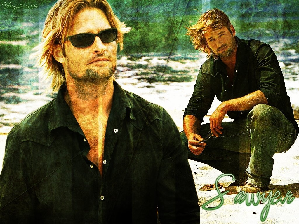 click to free download the wallpaper--Beautiful Poster of TV & Movies, Josh Holloway in Old Style, the Guy is Impressive