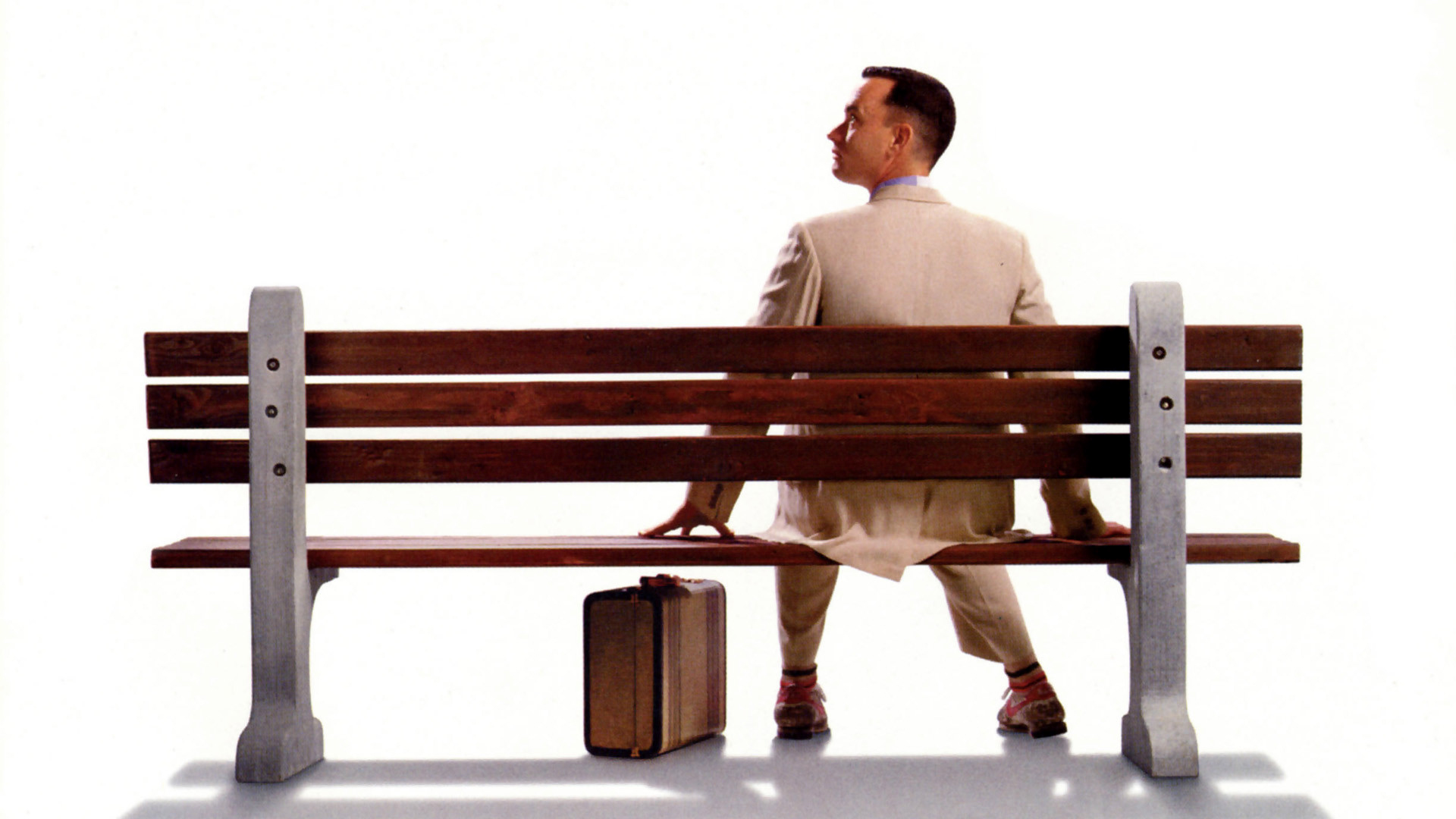 click to free download the wallpaper--Best Movie Posts for Desktop, Forrest Gump Poster, Never Put an End to Pursuit, Win and Success Await