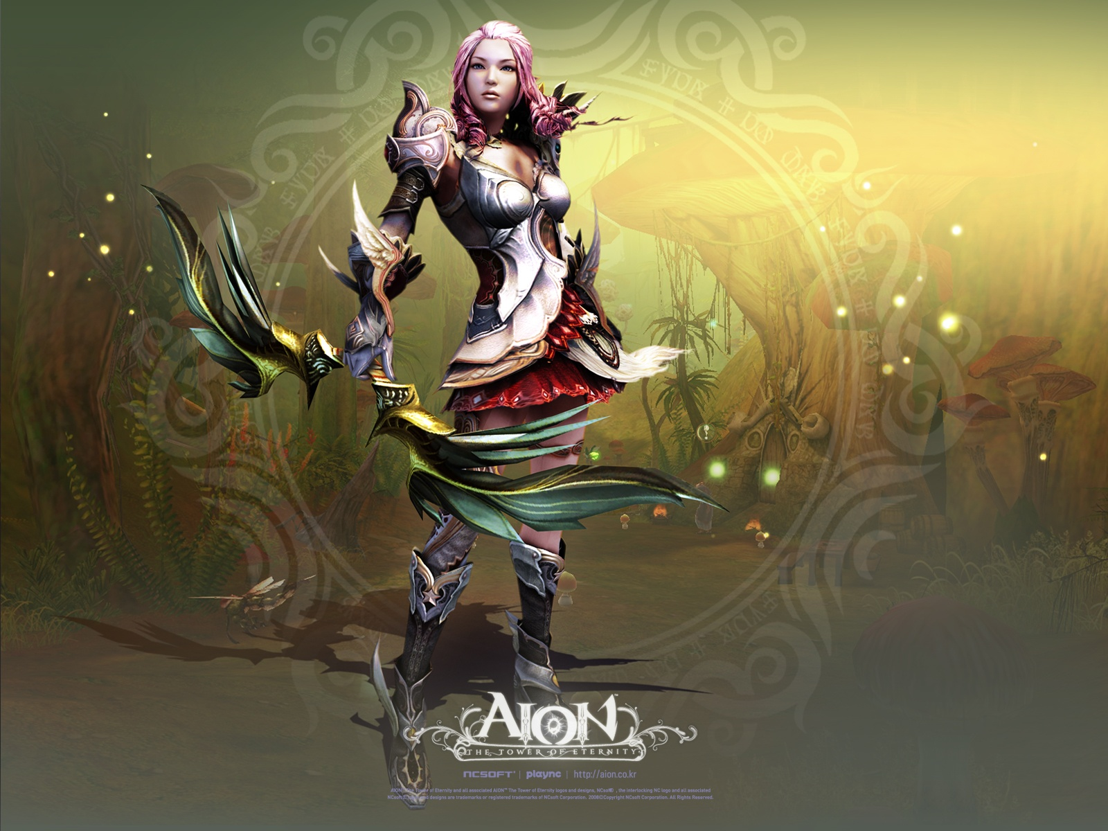 click to free download the wallpaper--Cool Game Post, Aion, the Cool Girl in Stand, She is Not Someone to be Looked Down Upon 1600X1200 free wallpaper download