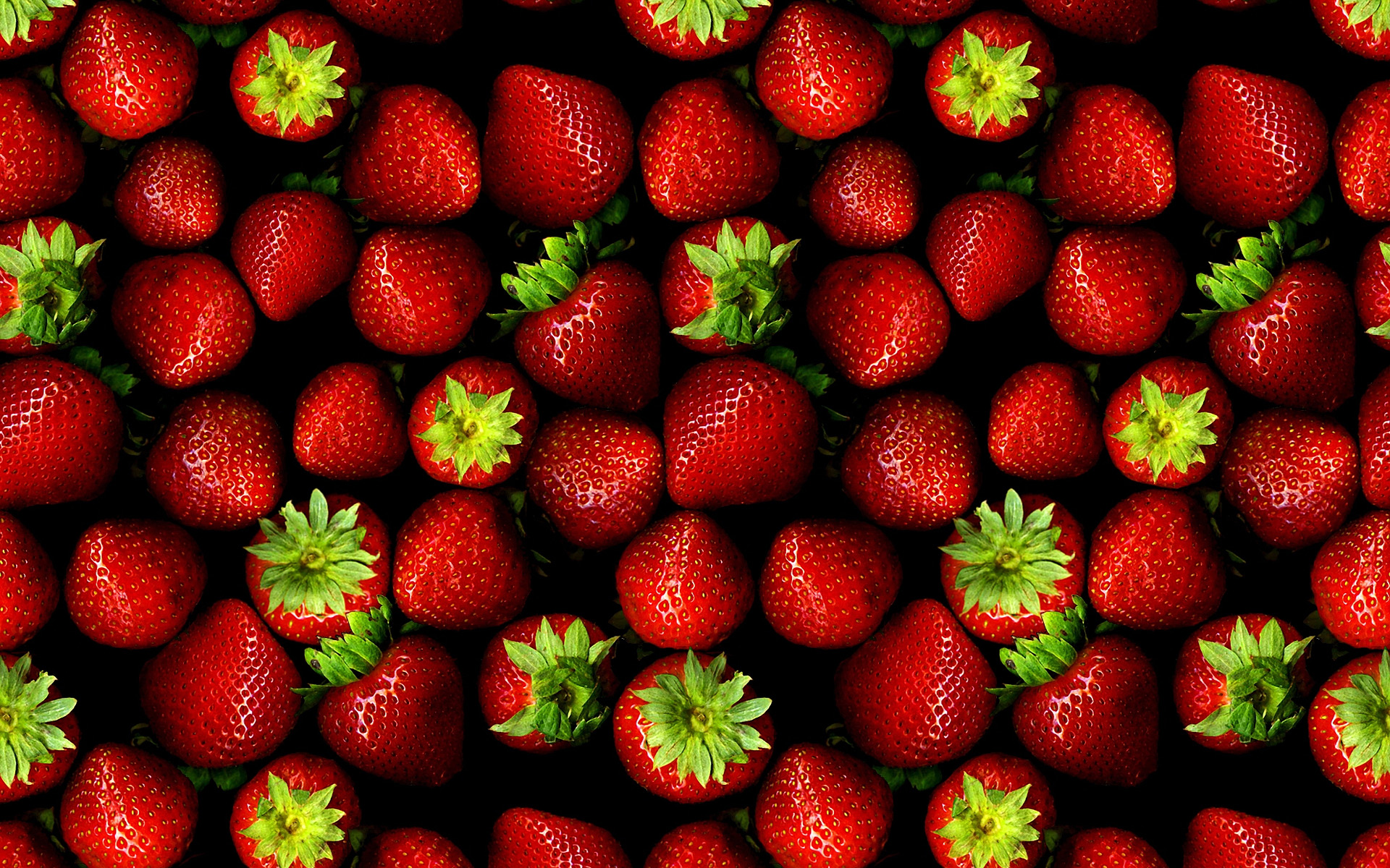 click to free download the wallpaper--Creative Wallpaper - A Pile of Strawberries in the Same Size and Color, They Are Too Good to be True 1920X1200 free wallpaper download