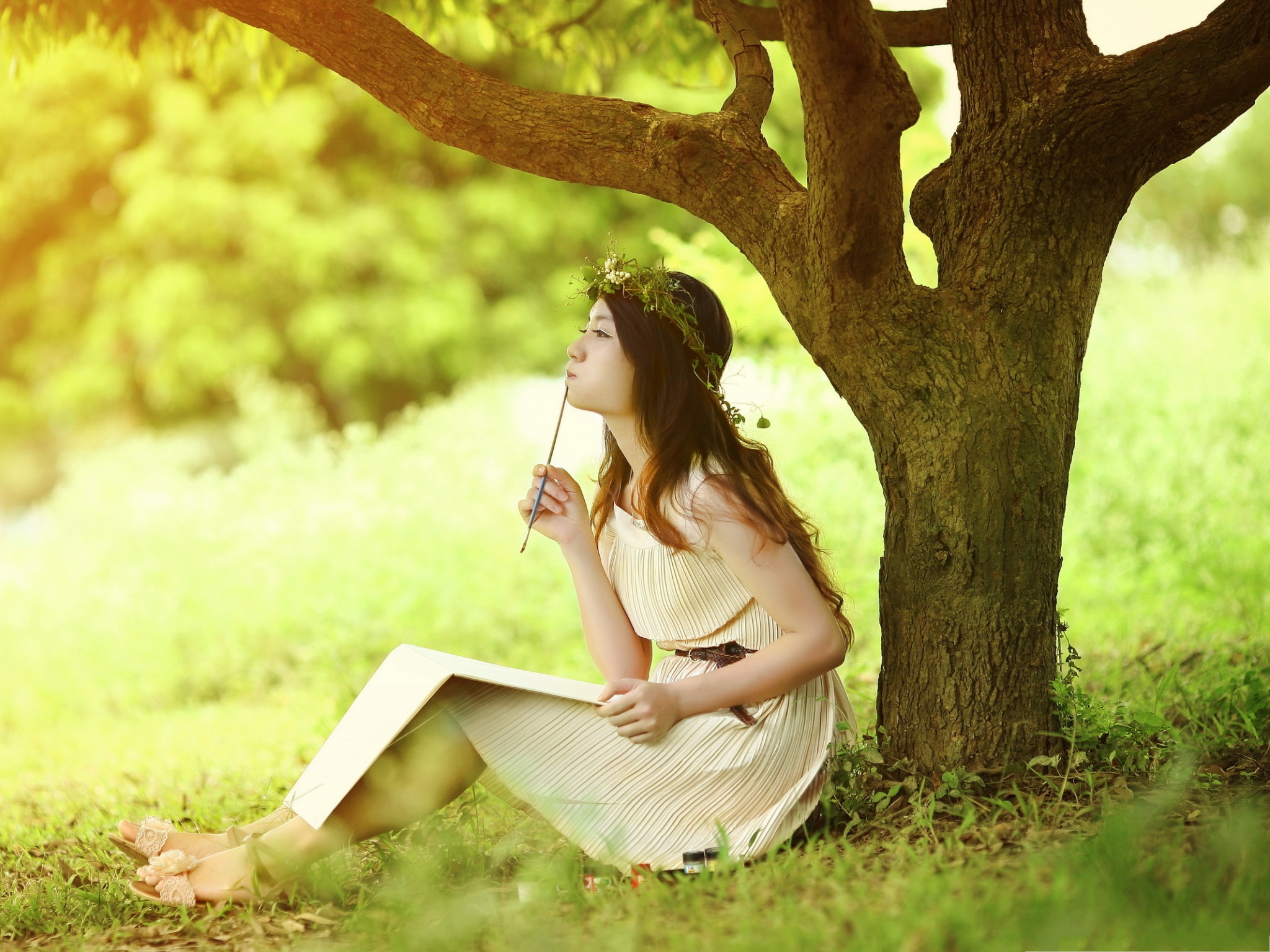 Cute Girl Pictures Beautiful Girl Outdoor Light Colored