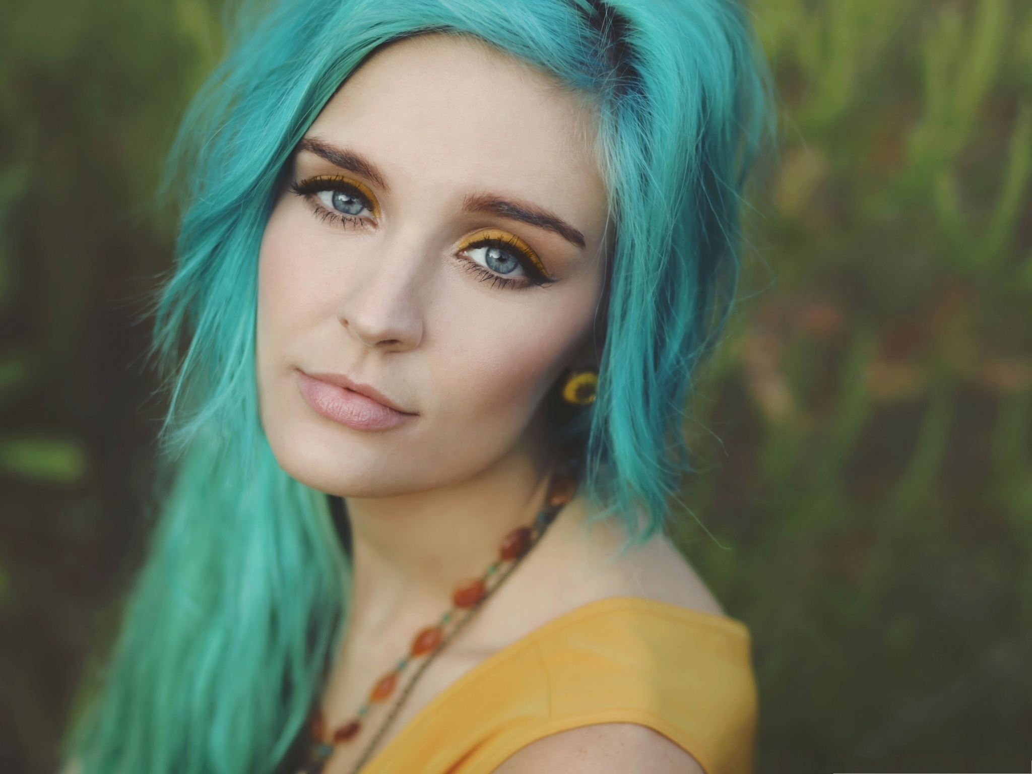 Exotic Girls Image Beautiful Girl In Blue Hair She Is Impressive