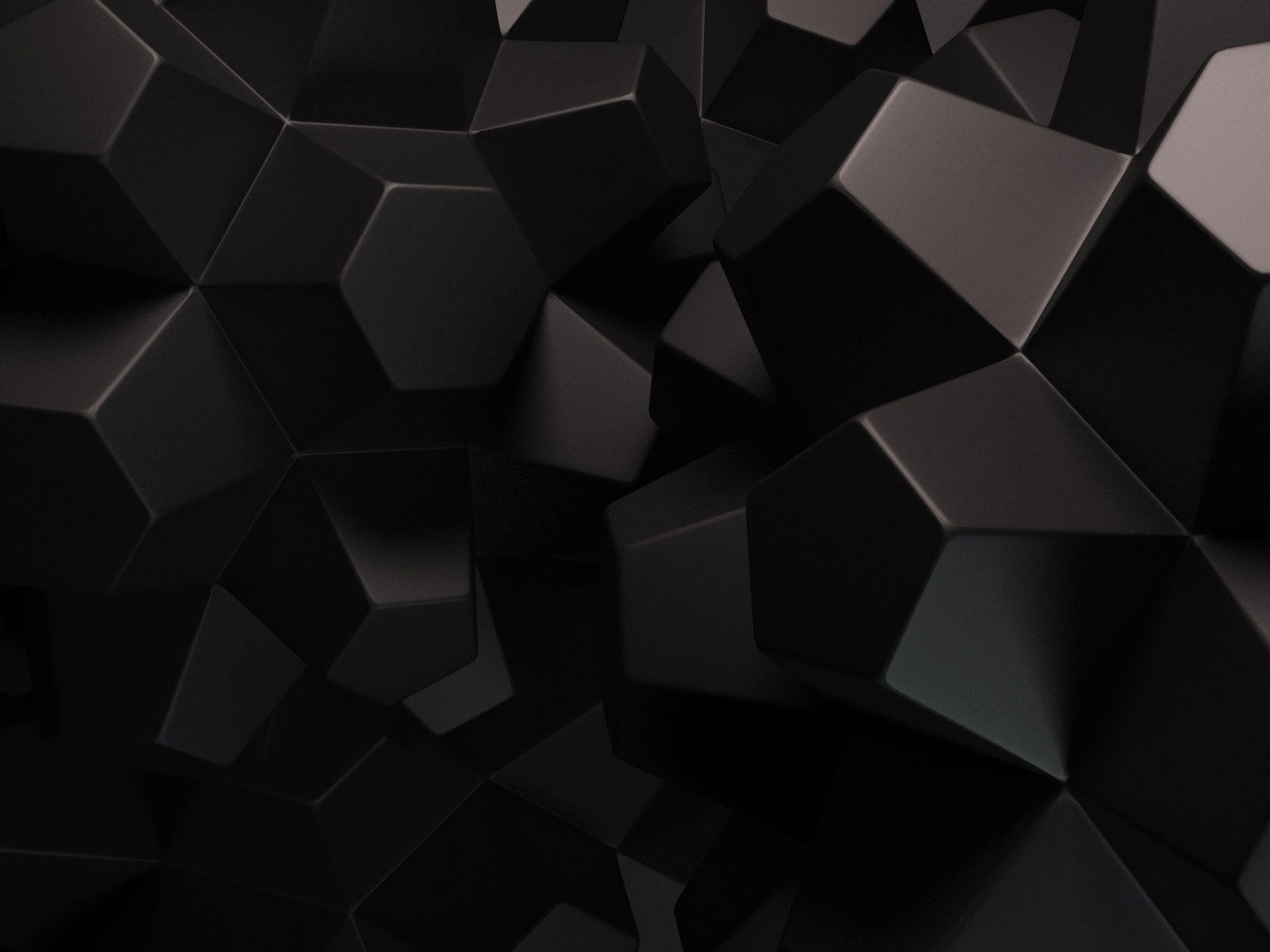 click to free download the wallpaper--Free Abstract Pics, the Black Cubes Are in a Certain Shape, They Are Looking Great 1920X1440 free wallpaper download