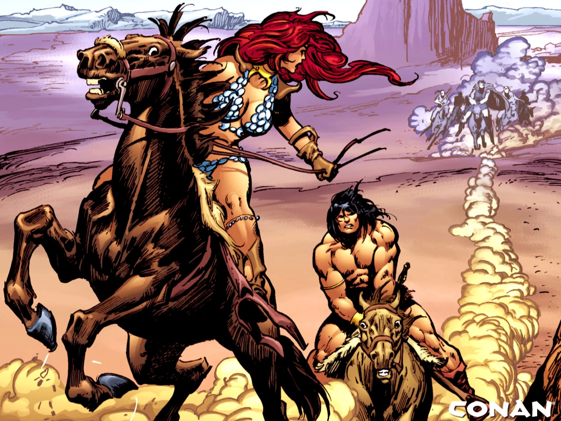 click to free download the wallpaper--Free Cartoon Post, Adventure of Conan, the Two Are Barely in Any Clothes, Attractive Enough 1152X864 free wallpaper download