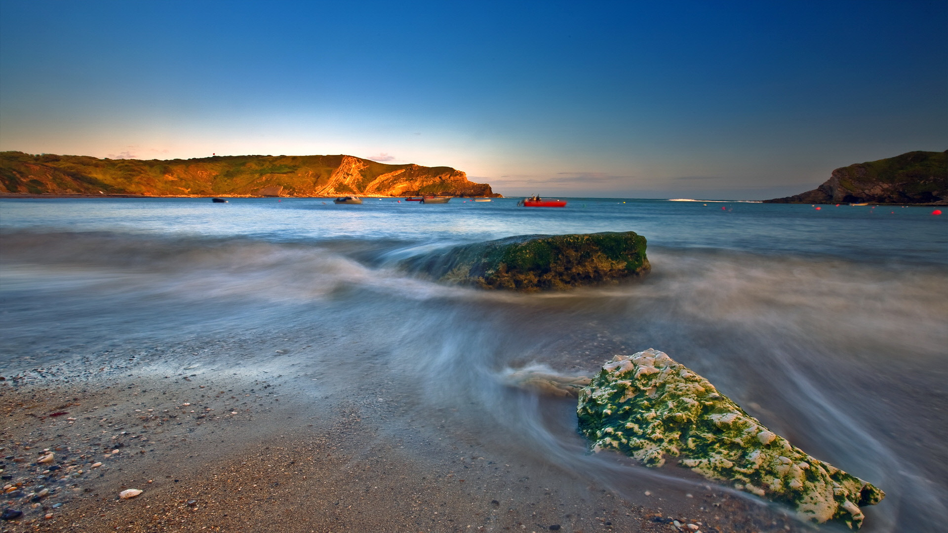 Free Download Natural Scenery Picture The Sea With Misty