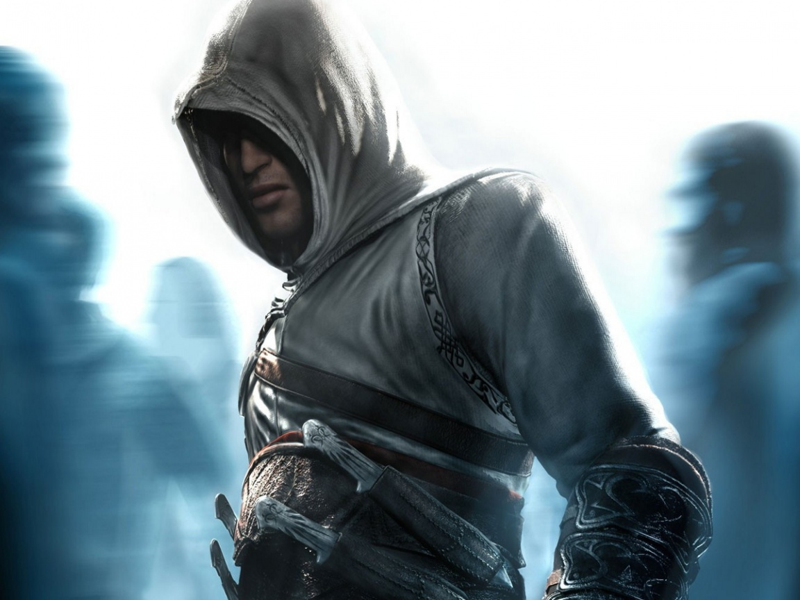 click to free download the wallpaper--Free Game Posts, Assassin's Creed, a Cool Guy, Head Covered, is Impressive in Look 1152X864 free wallpaper download