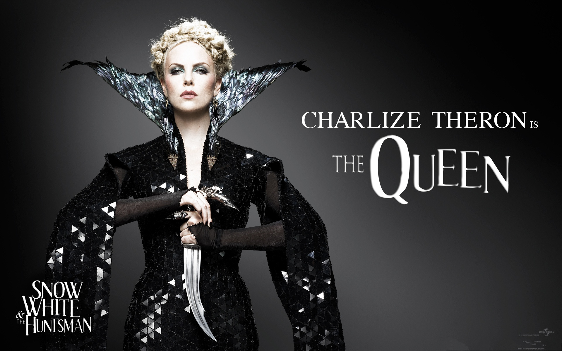 click to free download the wallpaper--Free Movie Wallpaper, Snow White And The HuntsMan, Charlize Theron as the Queen 1920X1200 free wallpaper download