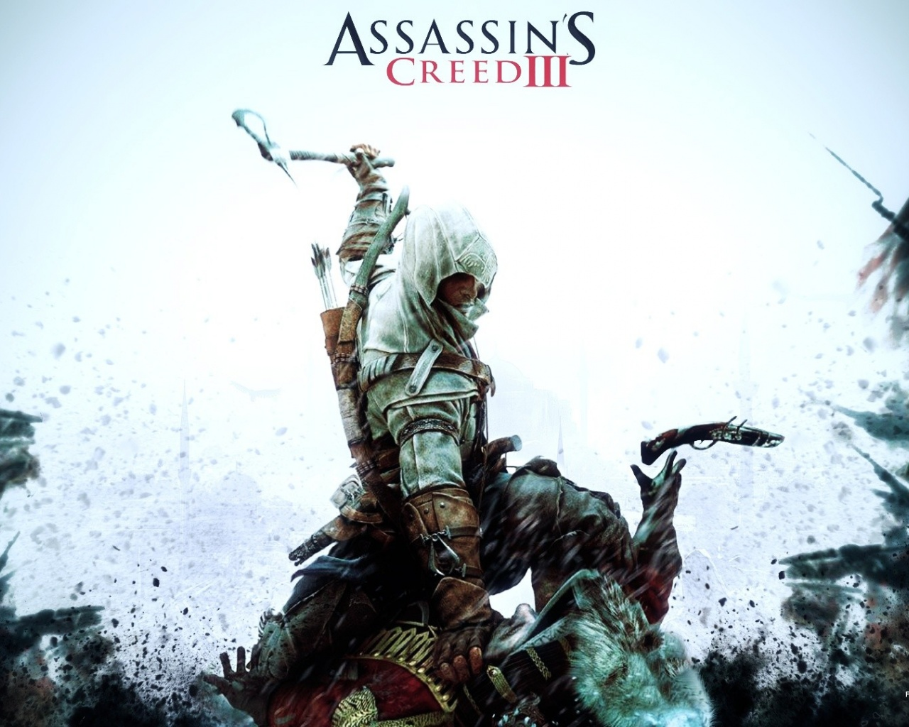 click to free download the wallpaper--Free Pics of Games, Assassin's Creed, the Man Hard in Battle, He is Cool and Bitter 1280X1024 free wallpaper download