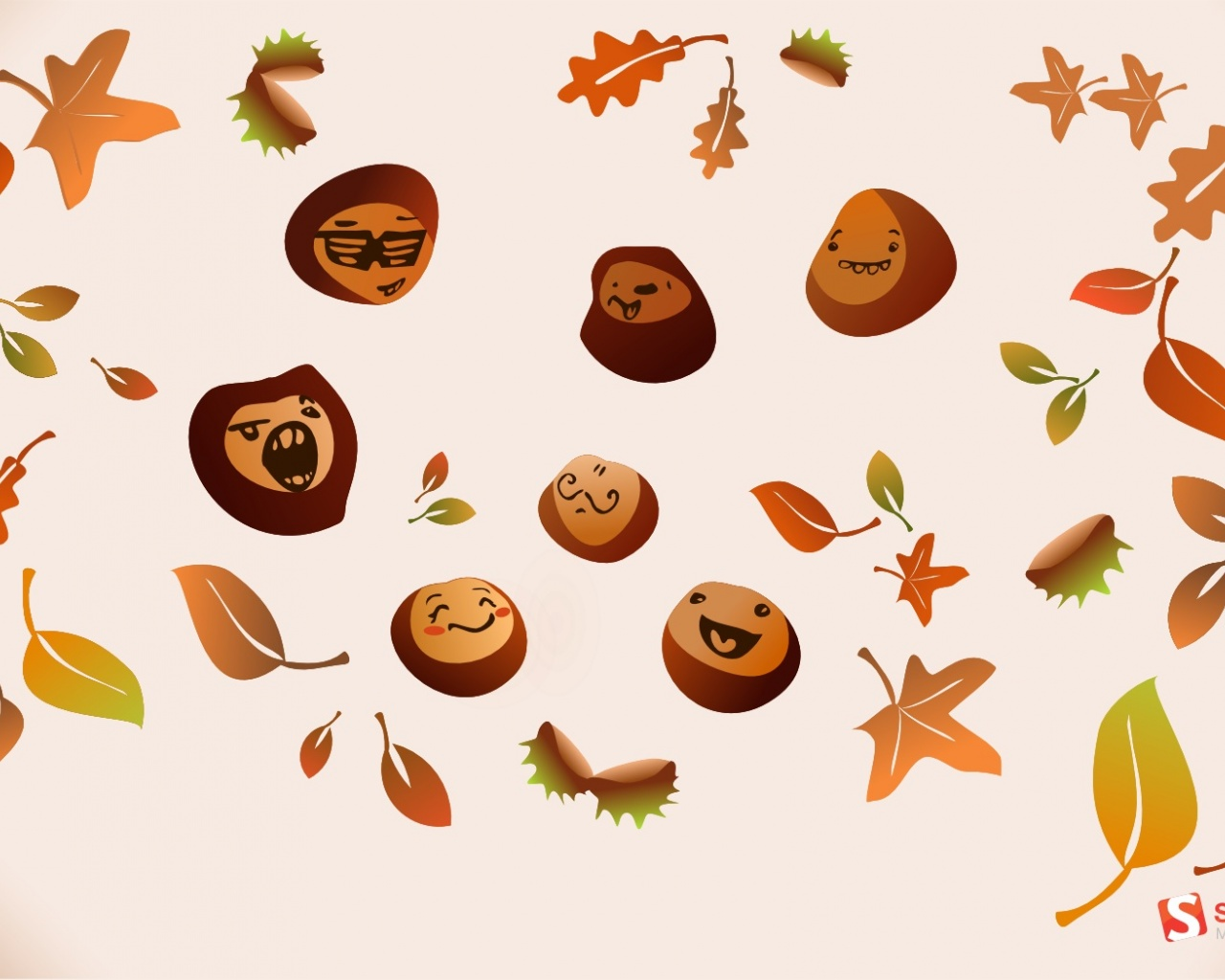 click to free download the wallpaper--Free Posts of Natural Scenes, Different Autumn Faces, Falling Leaves, Fruitful Season 1280X1024 free wallpaper download