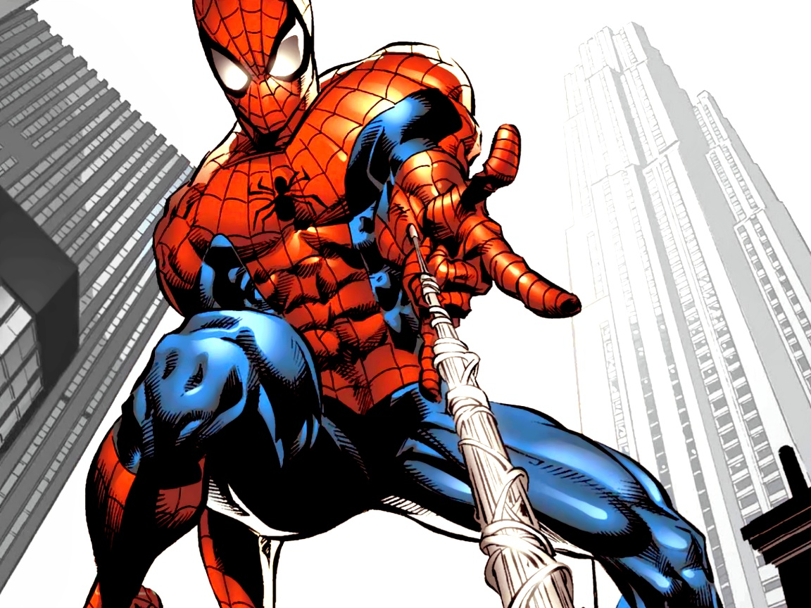 click to free download the wallpaper--Free TV & Movies Post, the Spider Man with White Silks, the Guy is Hard to Follow 1152X864 free wallpaper download