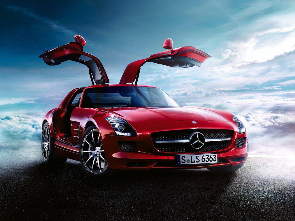 Free Wallpaper: A Red MercedesBenz Car  Free Wallpaper World