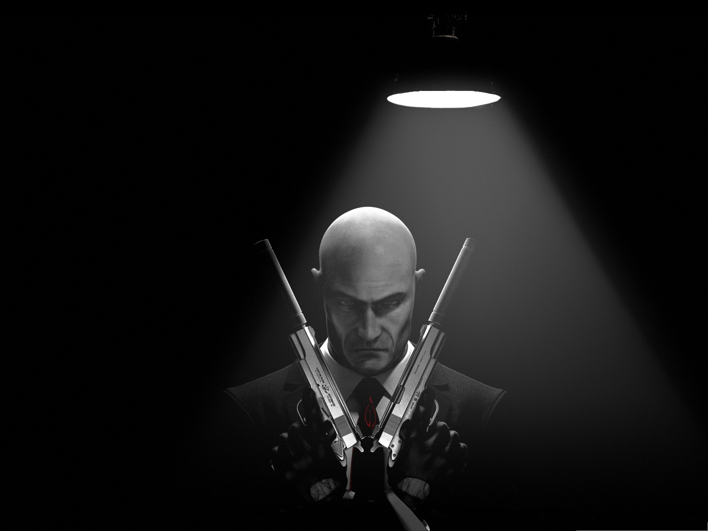click to free download the wallpaper--Games Picture - Hitman Absolution in Agent 47, Ready to Fight 1440X1080 free wallpaper download
