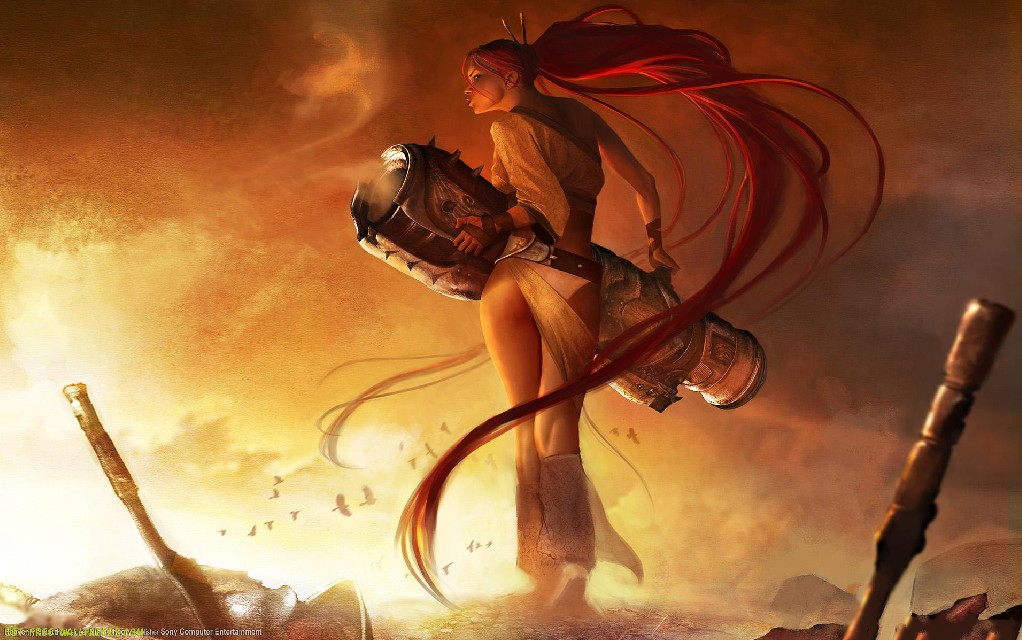 Heavenly Sword Game Post In 1920 1200 Pixel A Lady All Alone