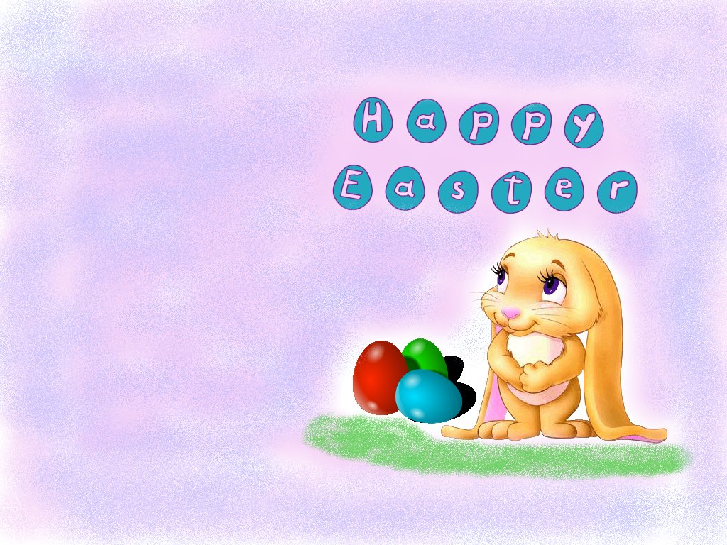 click to free download the wallpaper--Holiday Post, Easter Eggs Are Around the Cute Rabbit, She Will Spread Holiday Atmosphere 1024X768 free wallpaper download