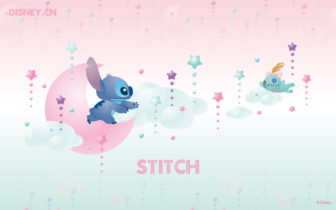click to free download the wallpaper--Lilo & Stitch Running to Each Other,