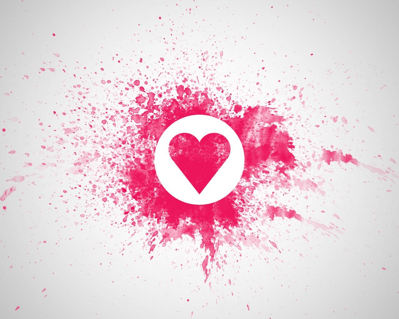 Love Pink Heart Splash Hd Wallpapers Wallpaper Gallery