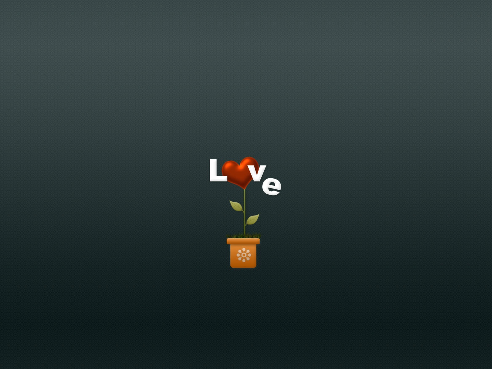 click to free download the wallpaper--Lovely Wallpaper, a Love Flower, Heart is Blooming