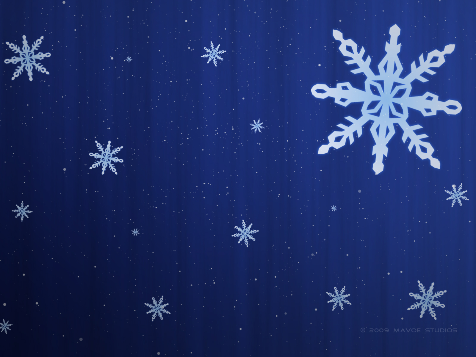 click to free download the wallpaper--Nature Landscape Wallpaper, Snowflake on Blue Background, Simple and Fit