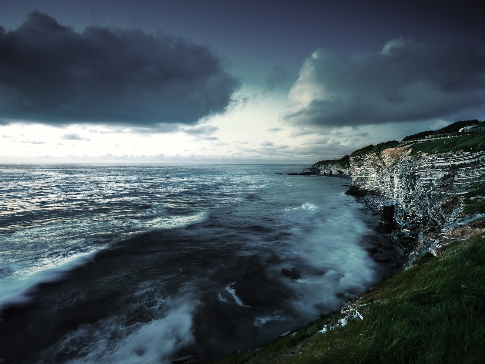 click to free download the wallpaper--Nature Landscape of the Beach, Shutter Coast, the Twisting Sea, Like Fairyland
