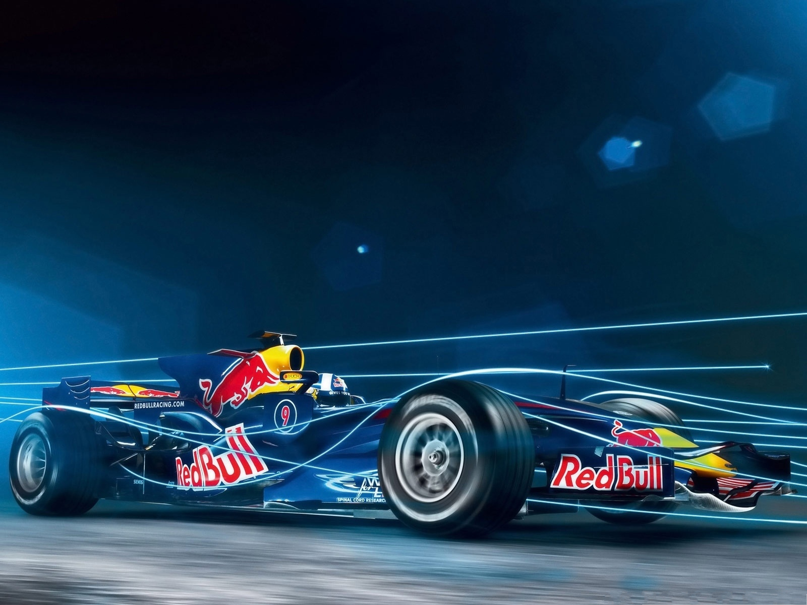 click to free download the wallpaper--Nice Cars Wallpaper, Red Bull Formula, Straight Blue Lines, Amazing Look 1600X1200 free wallpaper download