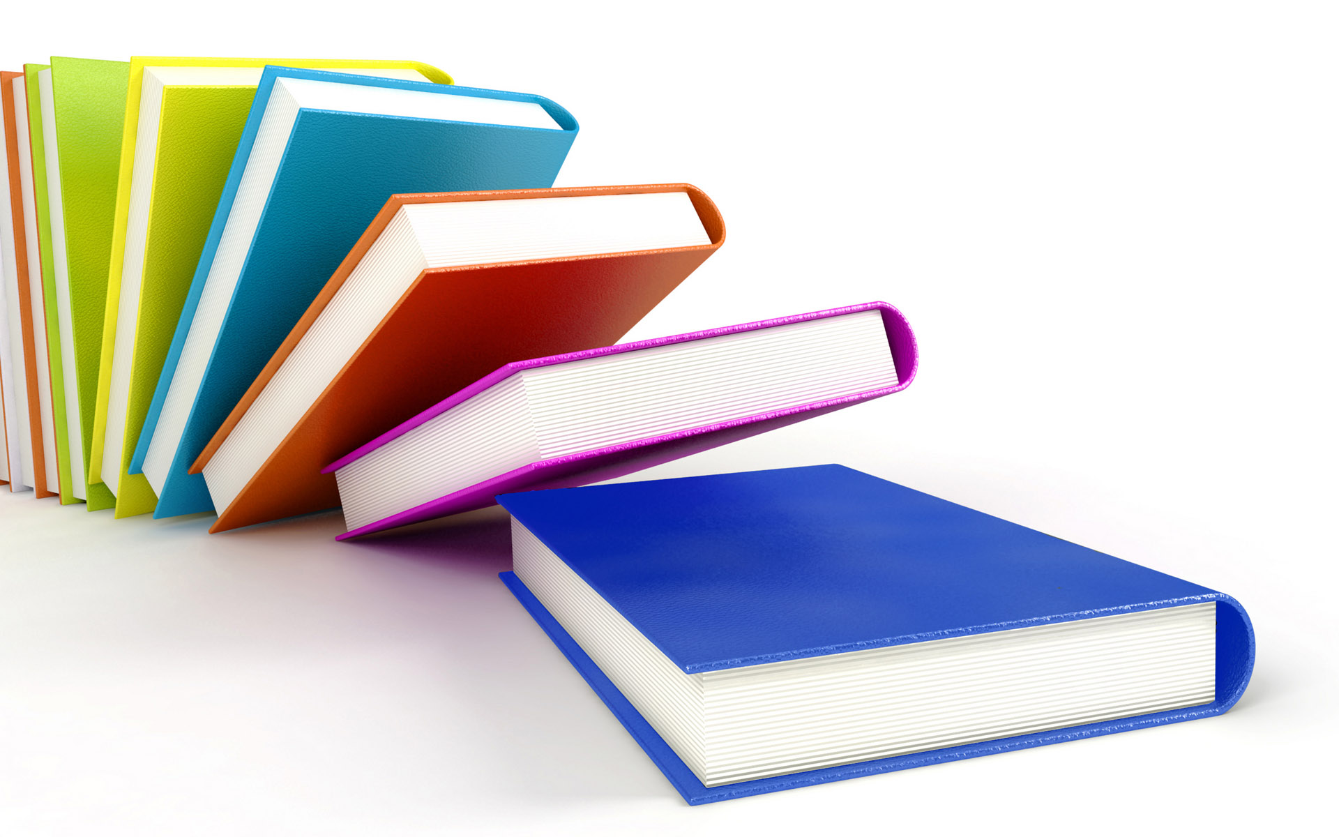 Click to free download the wallpaper---Numerous Colorful Books Each