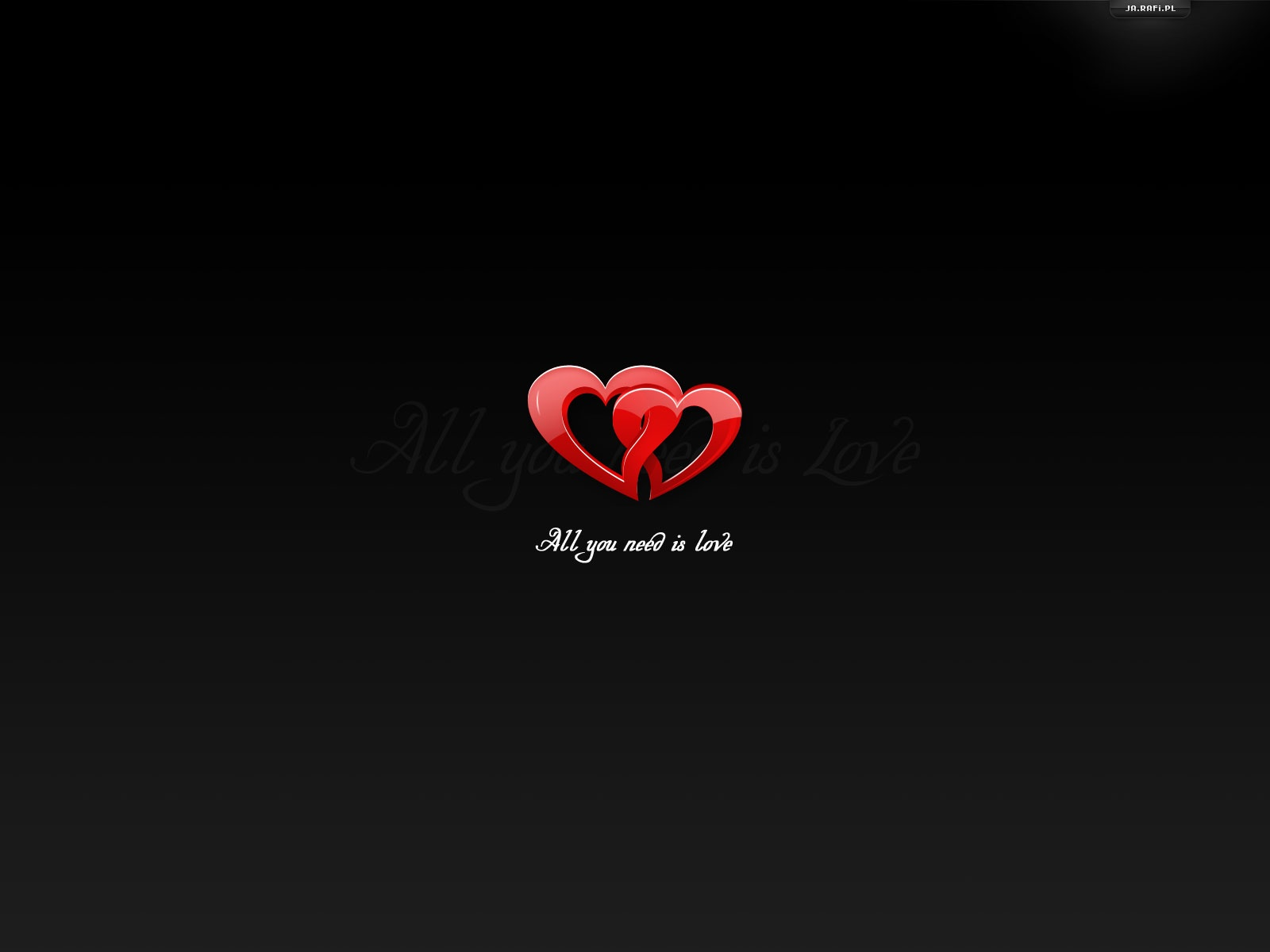 click to free download the wallpaper--Simple and Impressive Wallpaper, Two Red Hearts Running Into Each Other, Black Background, Lovely Scene 1600X1200 free wallpaper download