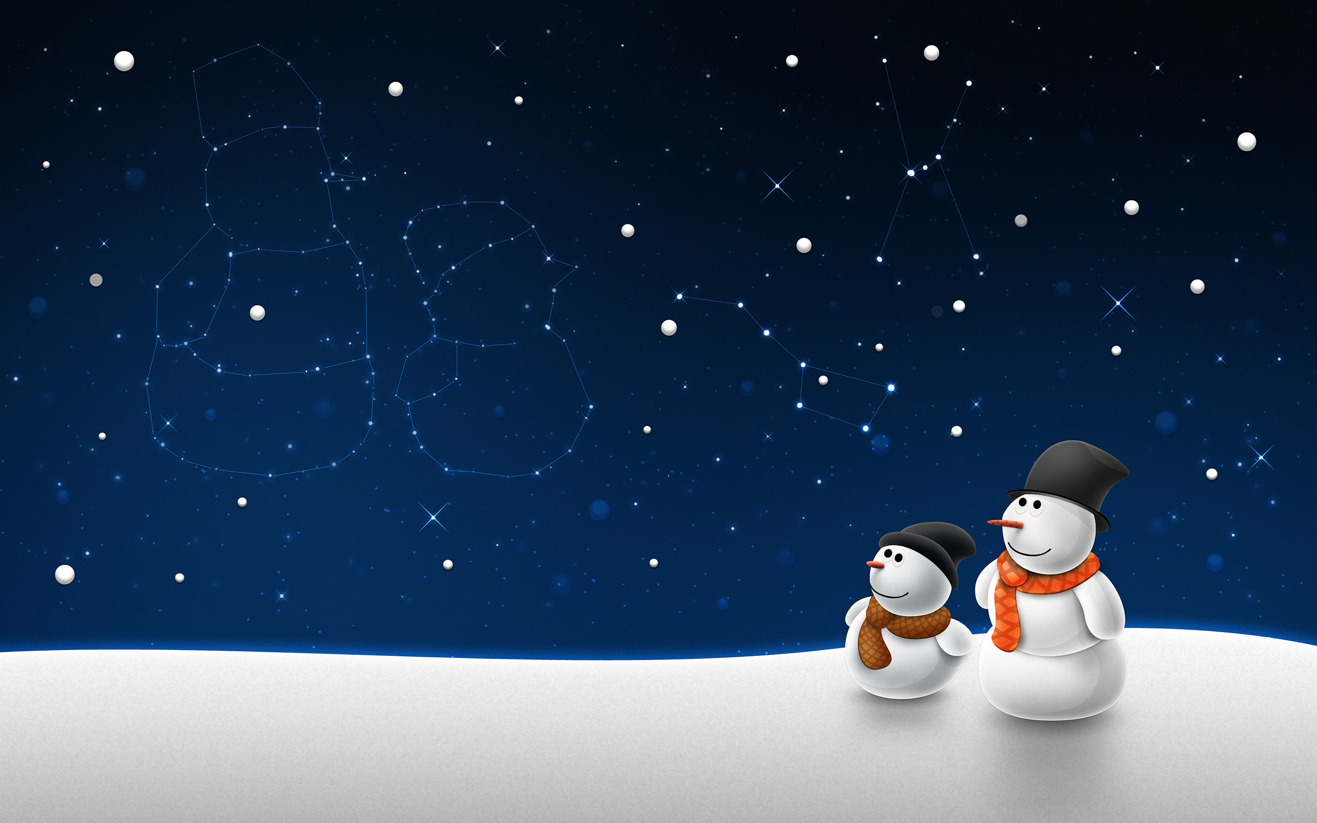 Click To Free Download The Wallpaper Snow Man Child Post In Pixel Of 2560x1600