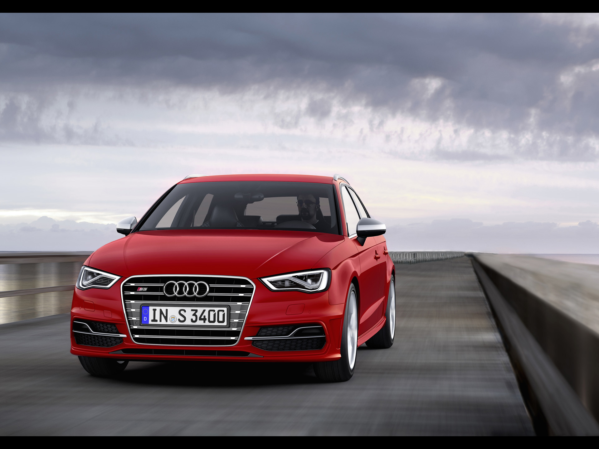 click to free download the wallpaper--Super Car Image of Audi S3, Seen from Front Angle, It is Impressive in Pretty Everything 1920X1440 free wallpaper download