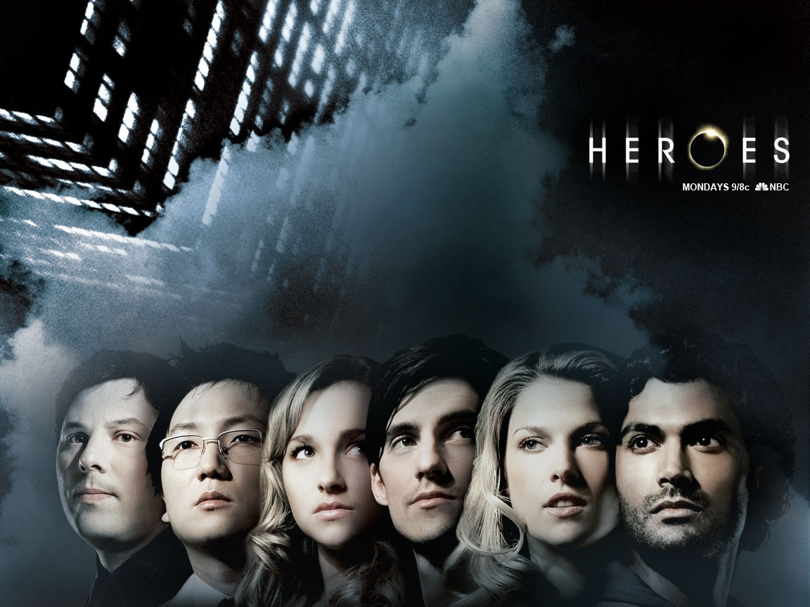 click to free download the wallpaper--TV Series Posts, Heroes All Showing Up, Face Portrait