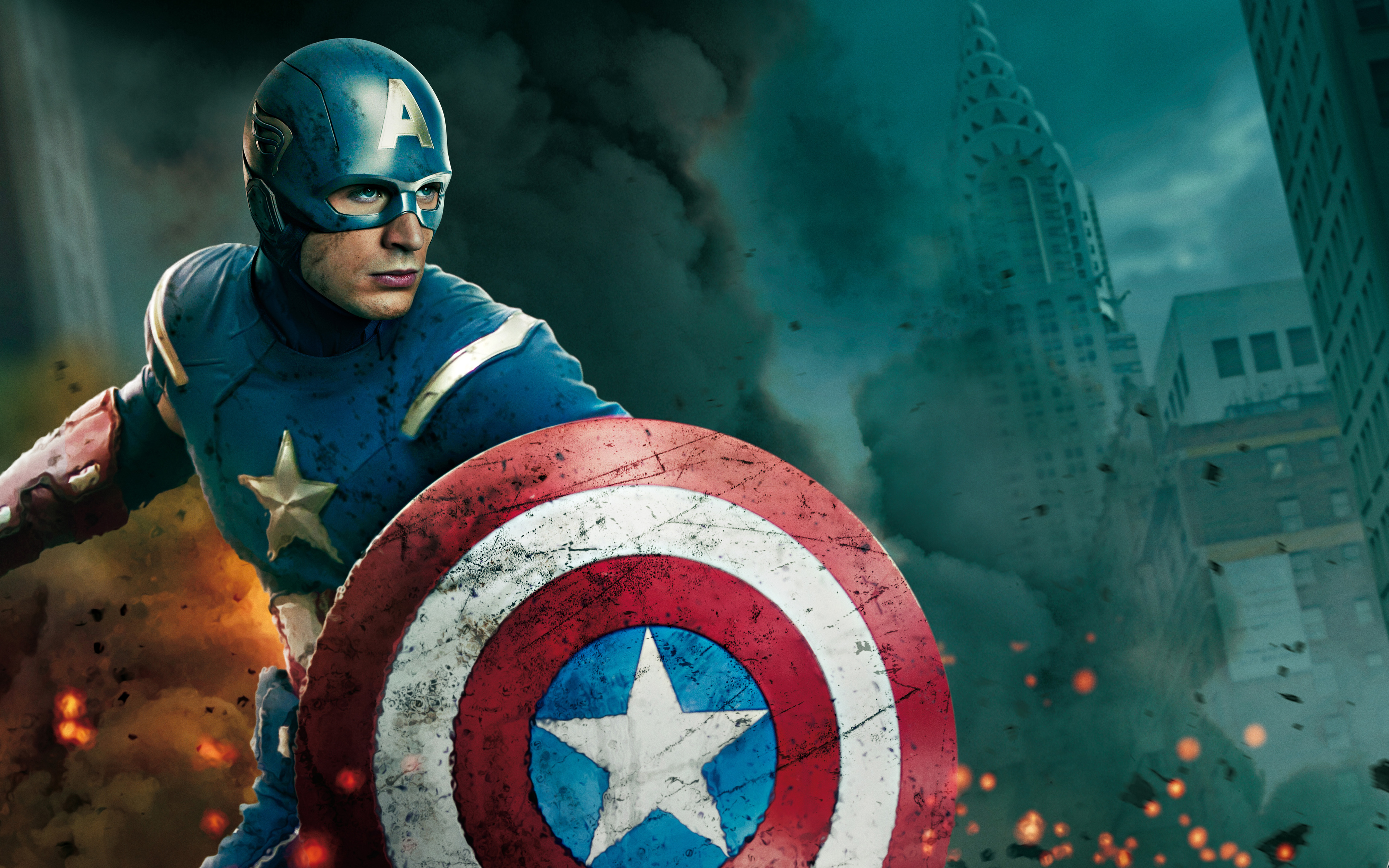 The Avengers Captain America in 4000×2500 Pixel, a Good Defender to ...