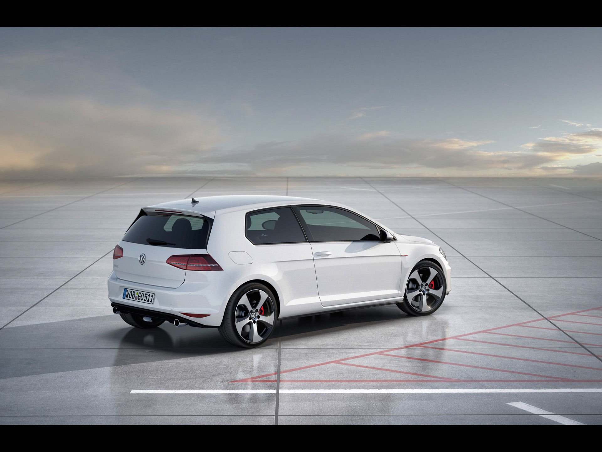 click to free download the wallpaper--Top Car Posts of Golf 7 GTI, a Running Car Turning the Corner, Driving Toward a Bright Future 1920X1440 free wallpaper download
