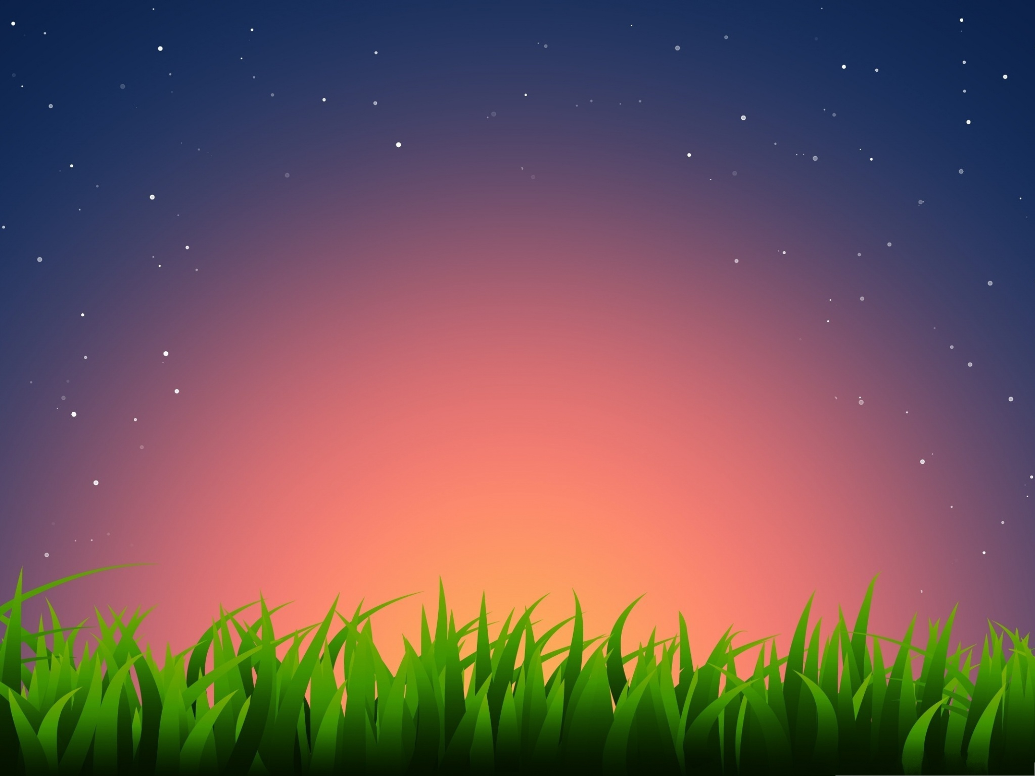 click to free download the wallpaper--Wallpaper for Computer Desktops, Grass Illustration Under the Bright Shinning Sky 2048X1536 free wallpaper download