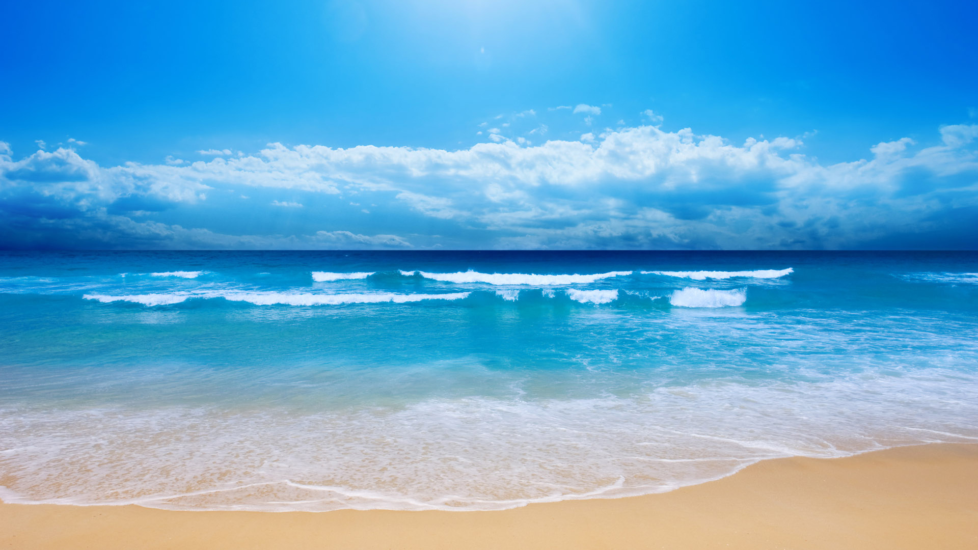 free wallpaper of natural scenery-blue sea ,click to download