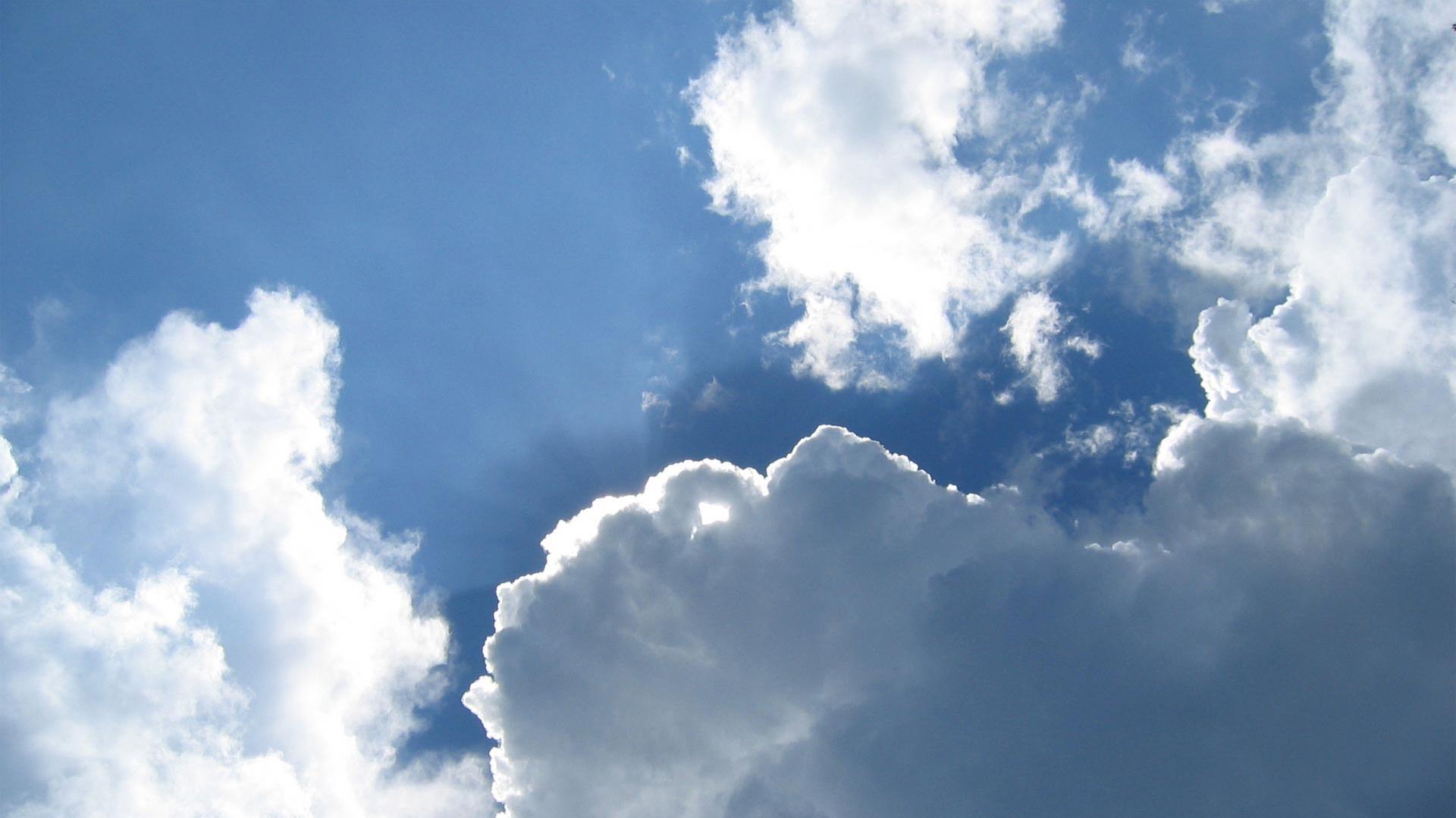 wallpaper blue sky clouds