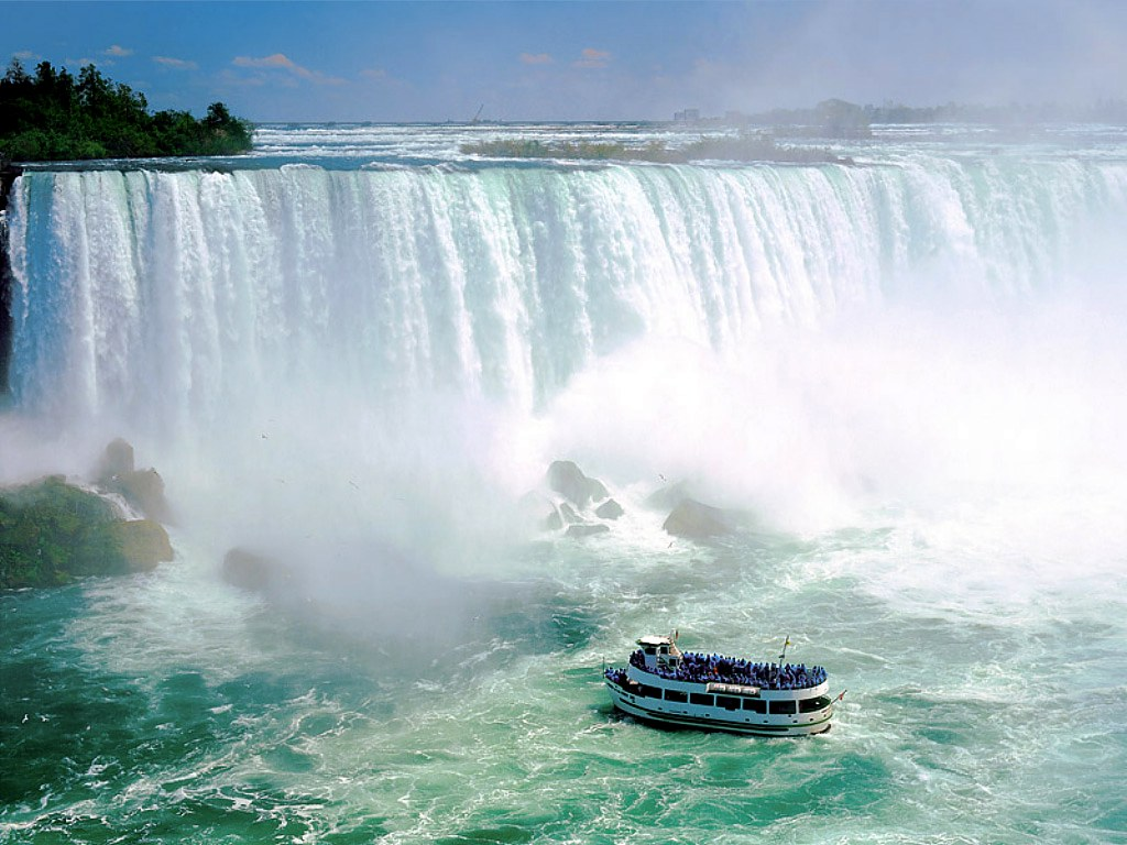 natural scenery wallpaper Niagara Falls in Canada - Wowwwwwwww