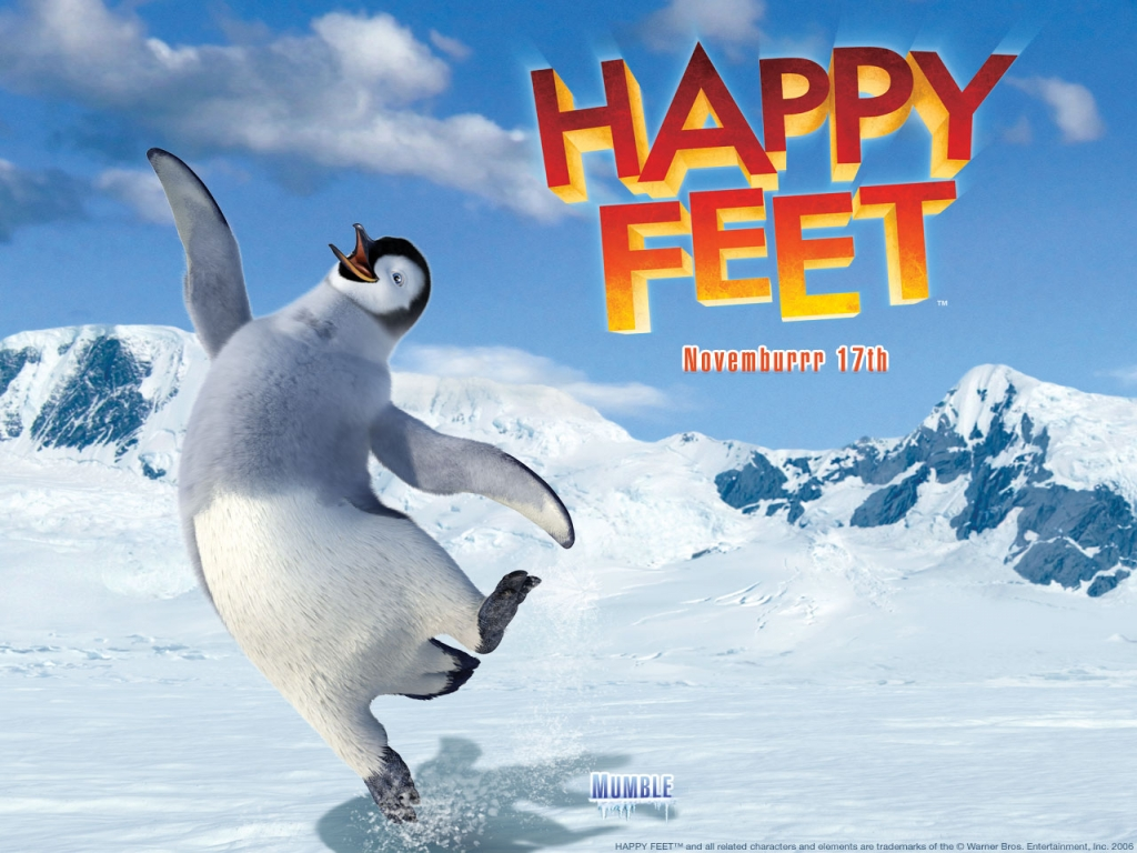 wallpaper of movie poster � happy feet free wallpaper world
