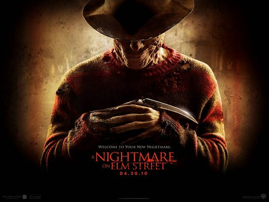 click to free download the wallpaper--2010 A Nightmare On Elm Street Post in 1600x1200 Pixel, the Man is Ghost-Like, He is Mysterious and Scary, Can Make One Shake - TV & Movies Post