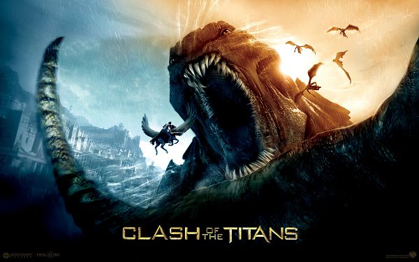 2010 Clash of the Titans Post in 1920x1200 Pixel, Will the Dragon Have the Man in Its Stomach? He is Scary in Outlook - TV & Movies Post