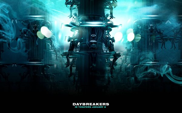 click to free download the wallpaper--2010 Daybreakers Movie Post in 1680x1050 Pixel, Cold and Lifeless Machine in Smooth Run, Everything Will be Fine - TV & Movies Post