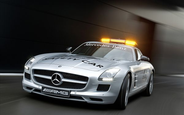 click to free download the wallpaper--2010 Mercedes Benz Safety Car Post in Pixel of 1920x1200, Laxurious Car Running at Great Speed, Shall Fit Various Devices - HD Cars Wallpaper