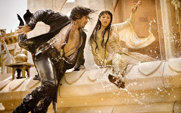 click to free download the wallpaper--2010 Prince of Persia Post in 1920x1200 Pixel, Girl is Pulled to Day Land, the Man is Self-Sacrificing and Protective Enough - TV & Movies Post
