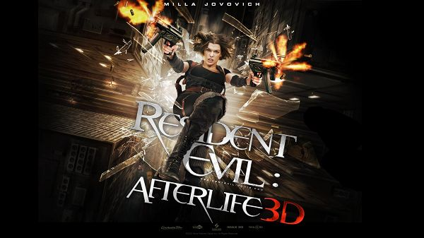 click to free download the wallpaper--2010 Resident Evil Afterlife 3D Post in 1920x1080 Pixel, Whatever Situation I am in, Shoting Has to Go on, I am the Super Lady - TV & Movies Post