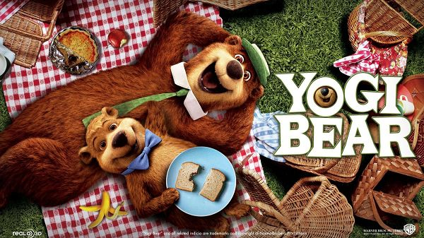 click to free download the wallpaper--2010 Yogi Bear Post in 1600x900 Pixel, Bear Family Enjoying Their Day Outdoor, They Shall Make the Users Happy - TV & Movies Post